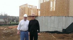 April 2014 Father Justin with Architect Tom Smith