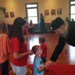 Vladyka Alexander blesses the children at the beginning of Vacation Church School 2016