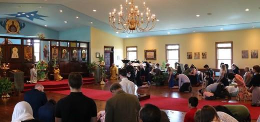 Bishop Alexander leads the Kneeling Prayers