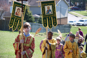 Sunday of Orthodox, Procession, St. Athanasius Orthodox Church, banners